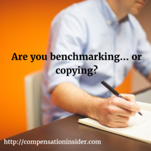 Are you benchmarking…or copying ?