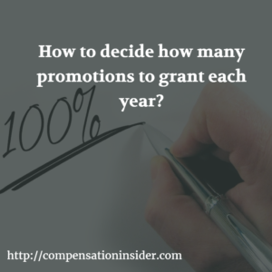 How to decide how many promotions to grant each year