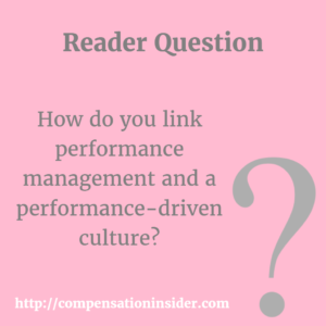 How do you link performance management and a performance-driven culture ?