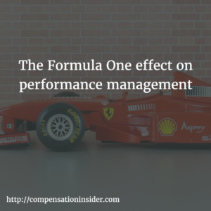 The Formula One effect on performance management