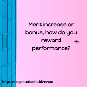Merit increase or bonus, how do you reward performance ?