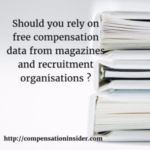 Should you rely on free compensation data from magazines and recruitment organisations?