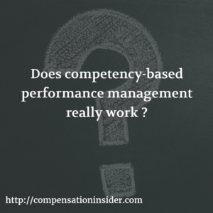 Does competency-based performance management really work ?
