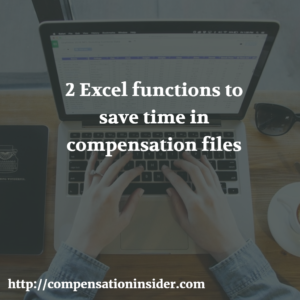 Two Excel functions to save time in compensation files