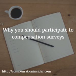 Why you should participate to compensation surveys