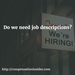 Do we need job descriptions