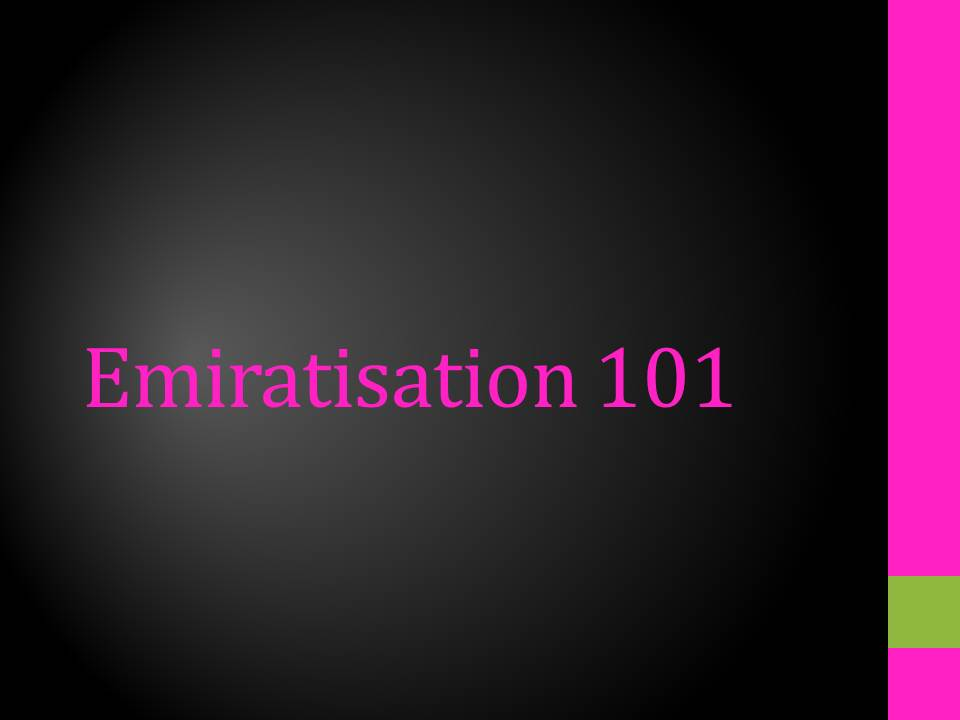 Emiratisation 101
