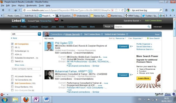 Advanced Search in the connections of your LinkedIn contacts