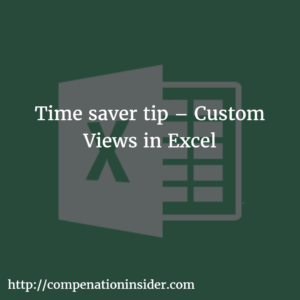 Time saver tip – Custom Views in Excel