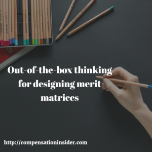 Out-of-the-box thinking for designing merit matrices