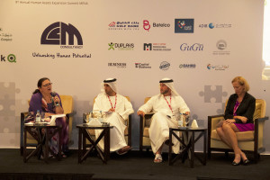 Moderating a panel on empowering nationals and EVP - Human Assets by naseba - May 2014
