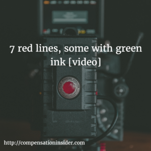 7 red lines, some with green ink [video]