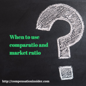 When to use comparatio and market ratio