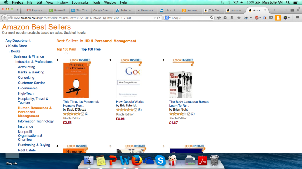 This time, it's personnel - best selling book on amazon UK 03 Nov 2014