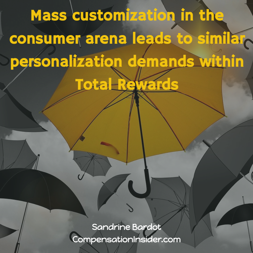The demand for personalization of Rewards is driven by mass customization in our consumer lives