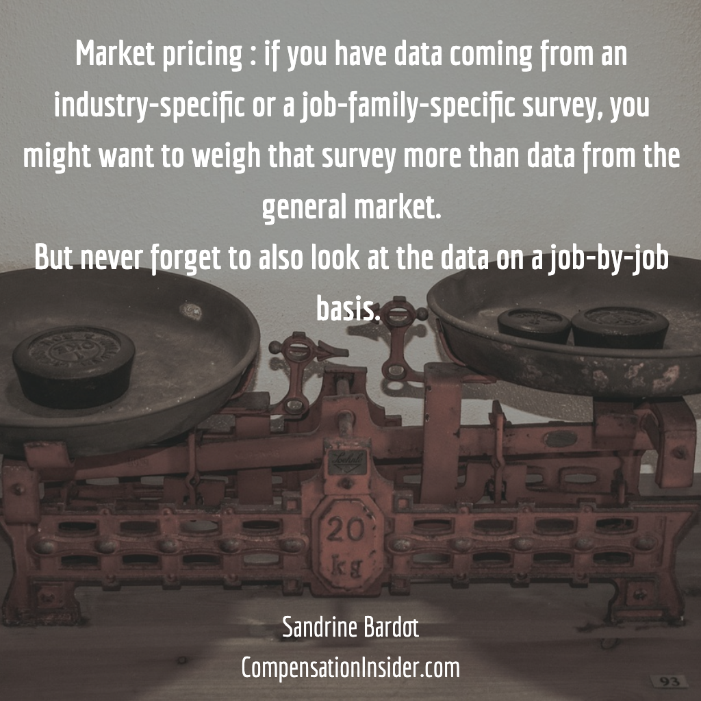 In general, put more weight on industry survey data than general market data
