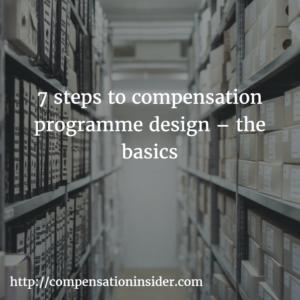7 steps to compensation programme design – the basics