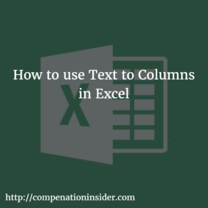 How to use Text to Columns in Excel