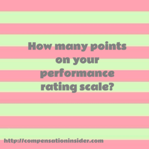 How many points on your performance rating scale