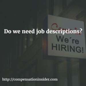 Do we need job descriptions