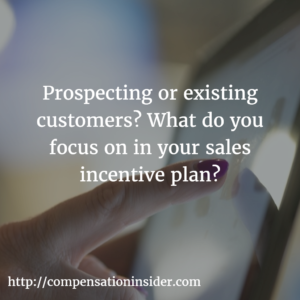 Prospecting or existing customers What do you focus on in your sales incentive plan