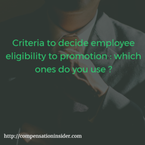 Criteria to decide employee eligibility to promotion