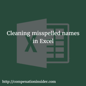 Cleaning misspelled names in Excel