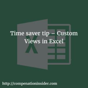 Time saver tip – Custom Views in Excel