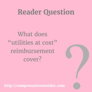 "What does ""utilities at cost"" reimbursement cover"