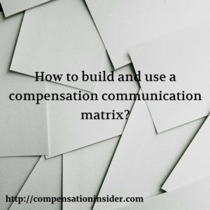 How to build and use a comp communication matrix