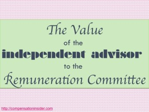 The value of the independent advisor to the Remco - find more at CompensationInsider.com