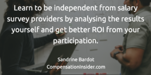 Learn to analyse salary survey results and get btter ROI from your participation
